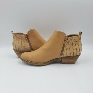 Report Doyl Ankle Bootie Side Zip Faux Leather 8.5